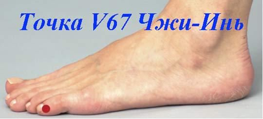 Точка V67 Чжи-Инь